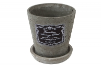Кашпо керамика с поддоном 12х12 3-152