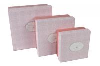 Коробка квадрат набор из 3шт. 10х22х22 орнамент, персиковая