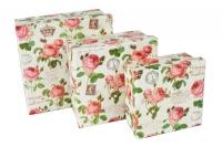 Коробка квадрат набор из 3шт. 10х10х5.2 - 14х14х6.8см микс
