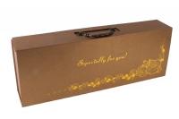 Коробка трансформер складная с ручкой 60х22х10,5 золото