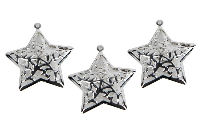 47005c9b8e514 Декор металл Звезда 3,5х5см 3шт серебро