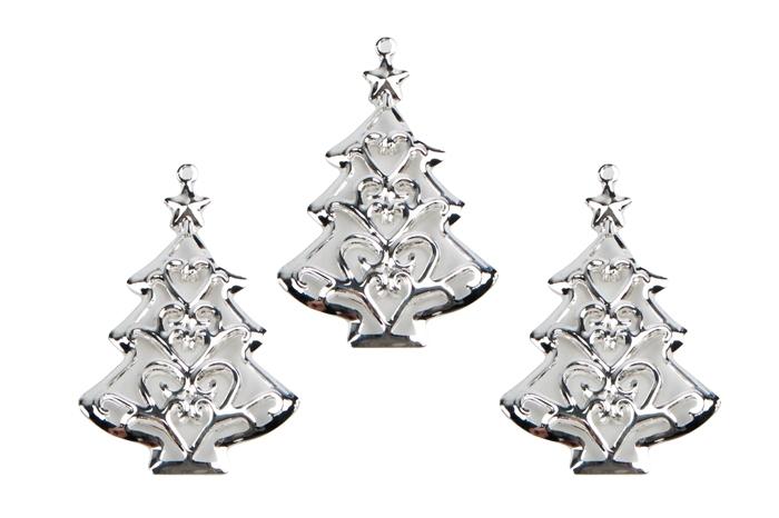 adeda31f63982 Декор металл Елочка 3,2х6см 3шт серебро